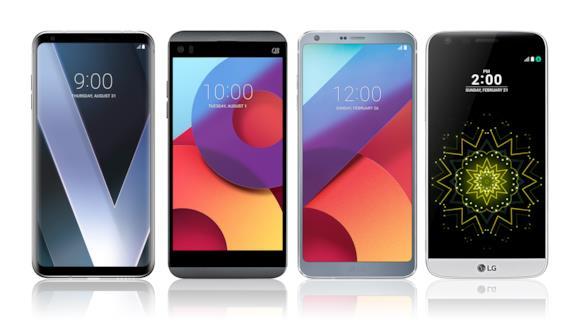 Un'immagine che mostra LG V30 in tutto il suo splendore