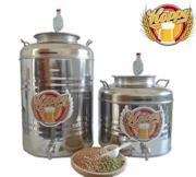 Fermentatore completo da 30 Litri in Acciaio Inox ideale per Birra Vino o Altro