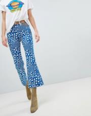 Jeans a zampa cropped