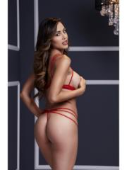 Coordinato Intimo Strappy Open Red