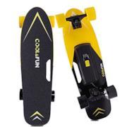 Skateboard Elettrico Longboard con Telecomando Senza Fili (Giallo)