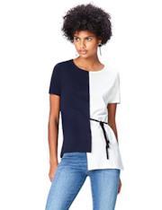 Maglietta asimmetrica di due colori