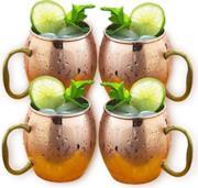 Set di 4 tazze in rame per il  Moscow Mule
