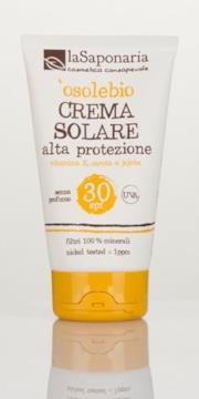 Crema solare bio SPF 30 - La Saponaria