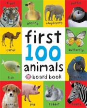 First 100 Animals (First 100 Soft to Touch Board Books), Copertine Assortite