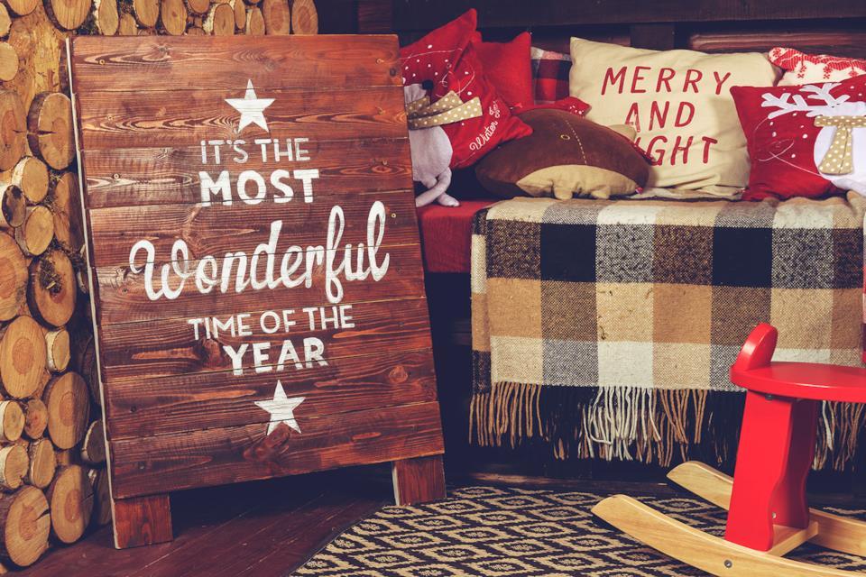 Cartello in legno per Natale