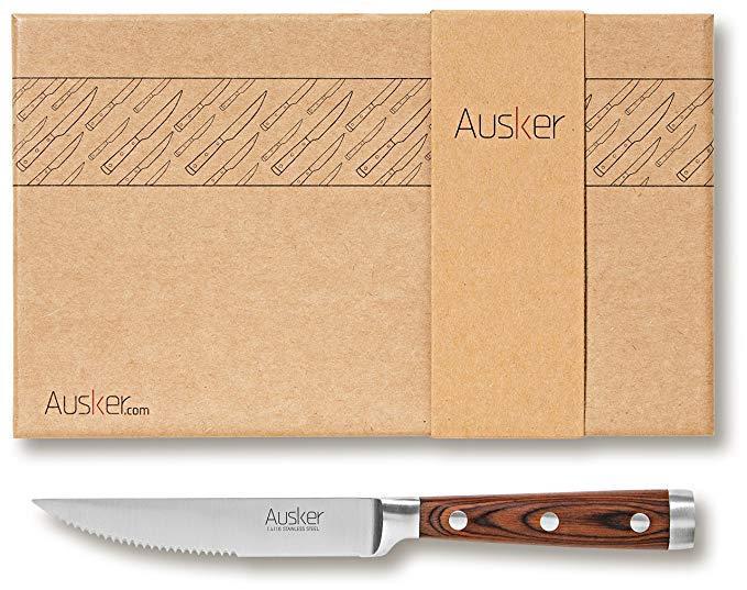 Set coltelli per bistecca Ausker in acciaio Inox