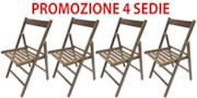 4 sedie pieghevoli