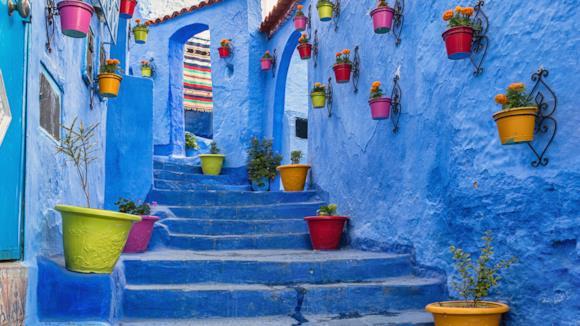 Scorcio di Chefchaouen in Marocco