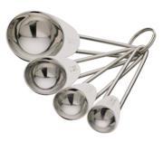 Set 4 cucchiai dosatori in acciaio INOX