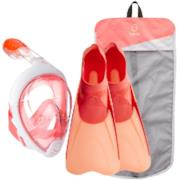 Kit snorkeling Easybreath corallo rosa