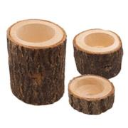 Tronchi di legno porta candele