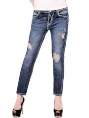 Jeans comfort con strappi
