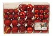 Palline di Natale con 100 palline natalizie colore rosso