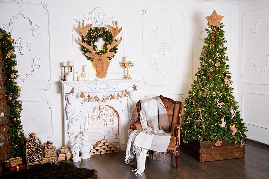 Albero di Natale slim color verde e oro