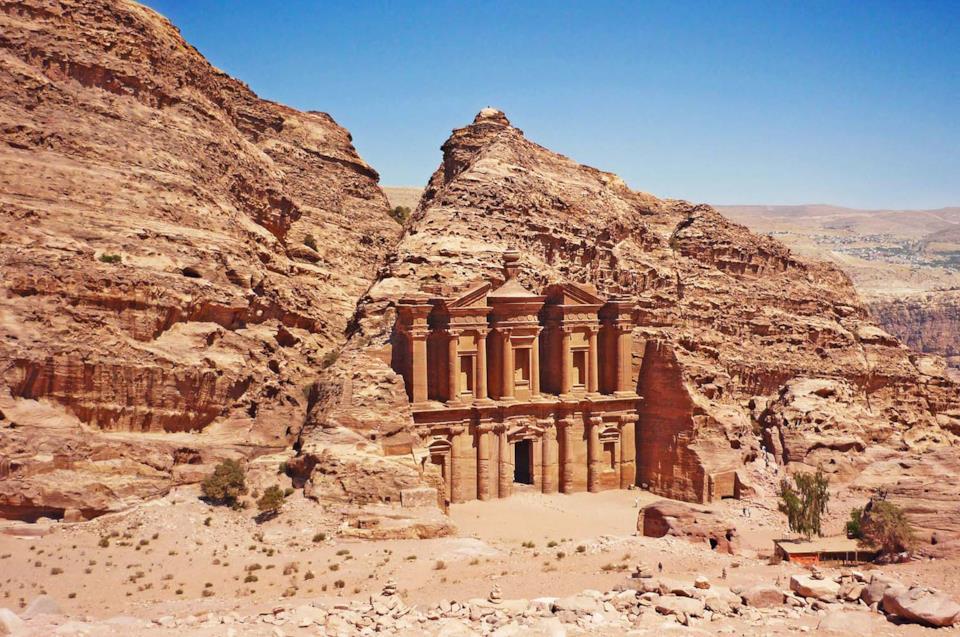 Rovine di Petra in Giordania