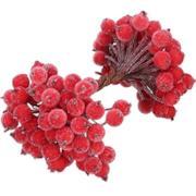 Bacche rosse artificiali per decorazioni