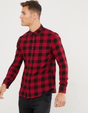 Camicia rossa a quadri