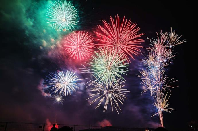Fireworks in spain