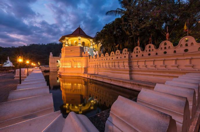 Kandy's Temple in Sri Lanka