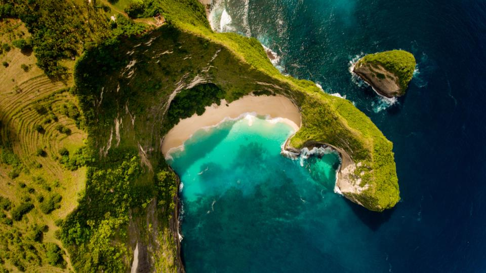 Bali Nusa Dua from above, Indonesia
