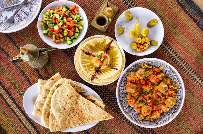 Typical dishes of Jordanian cuisine