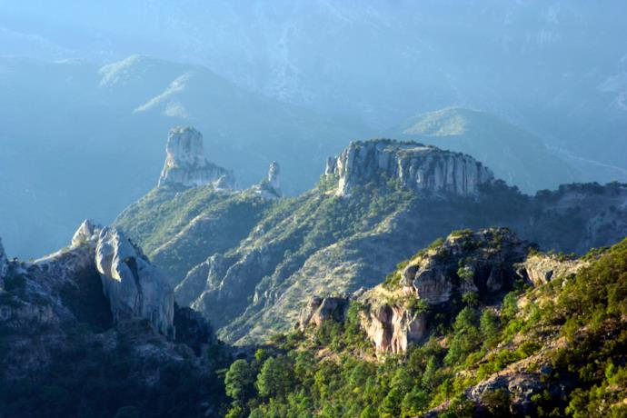 View of Canyon del Cobre in Mexico