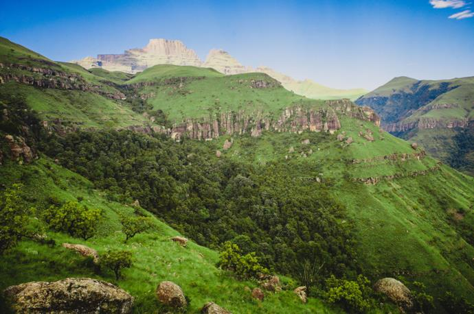 Drakensberg mountain landscape in South Africa