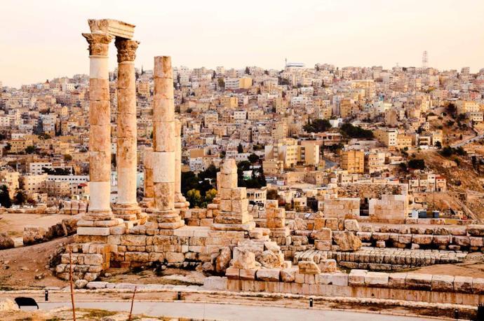 Amman citadel ruins, Jordan