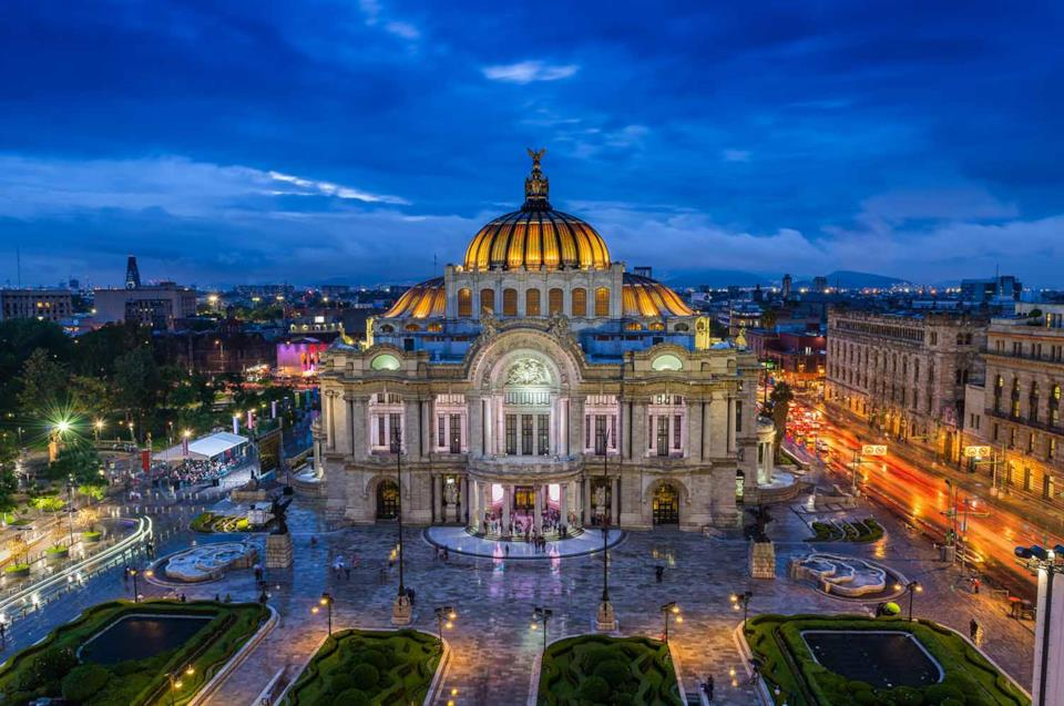 City Palace of Fine Arts in Mexico City