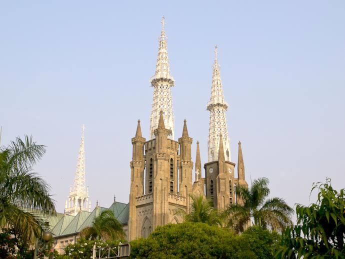 Jakarta cathedral in Indonesia