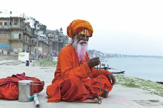 An Indian holy man