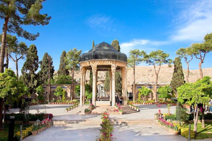 Hafez Tomb in Shiraz, Iran
