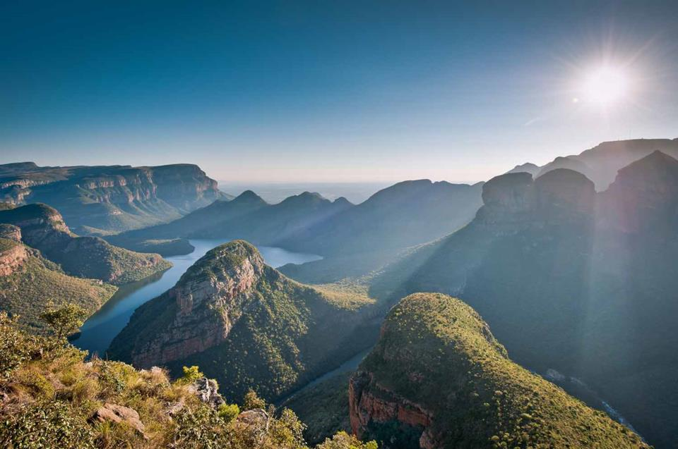 View of Drakensberg mountains in South Africa