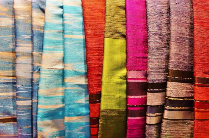 Krama, traditional silk scarf from Cambodia