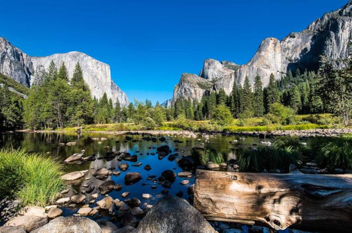 Landscape of Yosemite National Park Usa