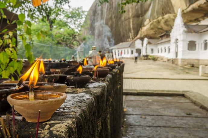 Cave temple in Sri Lanka