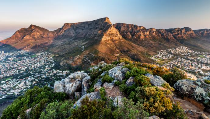 View of Table Mountain in Cape Town, South Africa