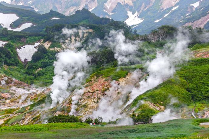 Landscape of the geyser valley, Russia