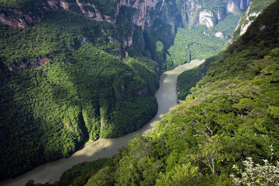 Sumidero Canyon a Tuxtla Gutierrez in Messico