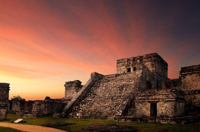 Pyramid of Tulum in Mexico.