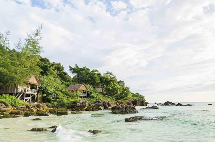 Houses on the beach of Sihanoukville