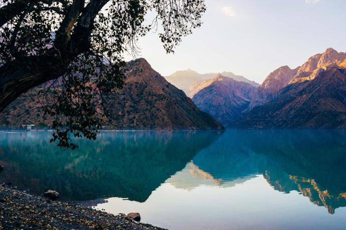 Iskanderkul Lake in Tajikistan