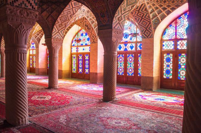 Nasir al Mulk Mosque in Shiraz, Iran