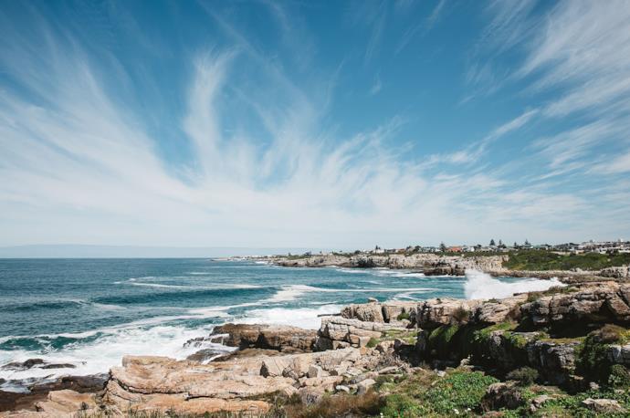 Hermanus coast in South Africa
