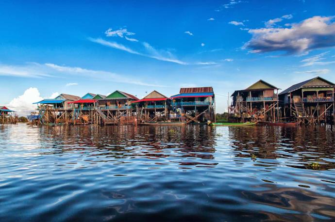 Floating houses in Tonle Sap, Cambodia