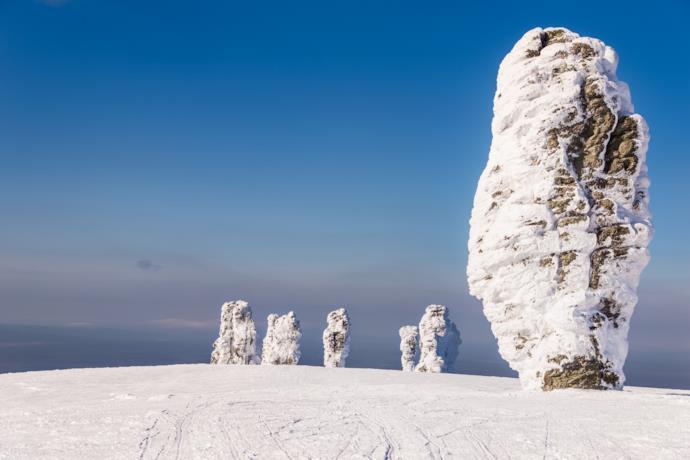 Monoliths in Man'pupuner, Russia