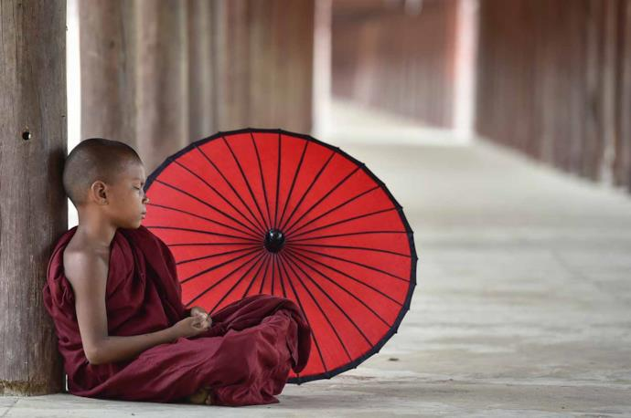 Young monk in Myanmar