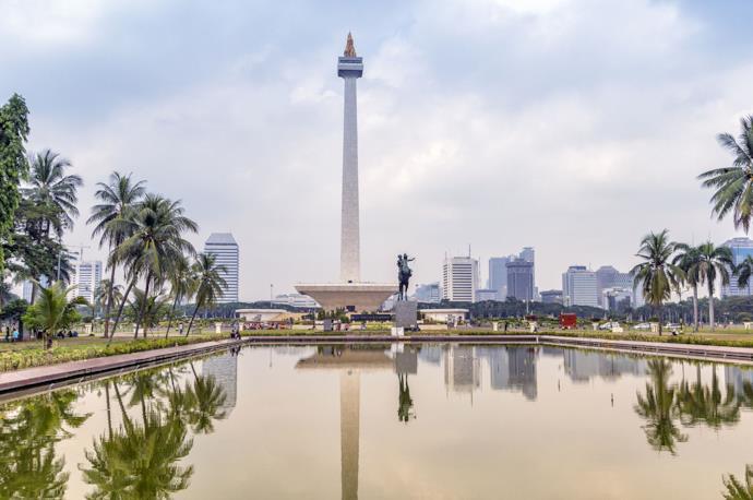 Merdeka Square in Jakarta, Indonesia
