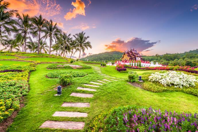 Chiang Mai's royal gardens, Thailand